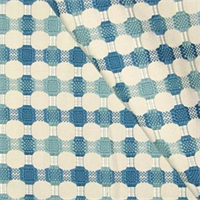M9477 Bermuda Blue Embroidered Dot Upholstery Fabric by Barrow Merrimac