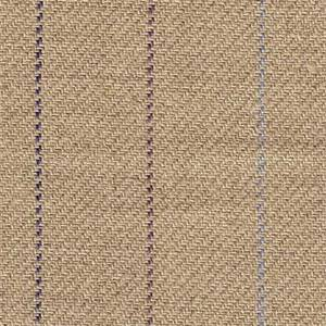 Olympic Stripe Flax/Plum Linen Fabric