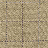Olympic Windowpane Plaid Flax/Plum WIndow Pane Plaid Linen Upholstery Fabric