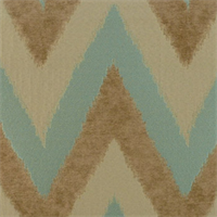 Wilma Turquoise Ikat Chevron Stripe Design Upholstery Fabric