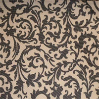 Padre Scroll Black Indoor/Outdooor Fabric