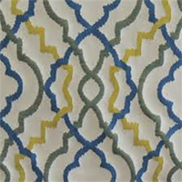 Kasuri Scroll Caribbean Contemporary Upholstery Fabric by Swavelle Mill Creek