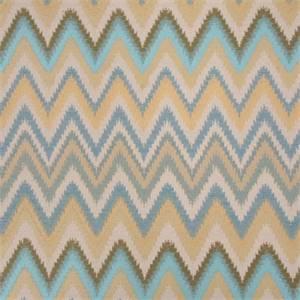 Sawtooth Agean Woven Zig Zag Stripe Upholstery Fabric