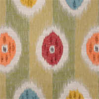 Rosette Willow Woven Ikat Upholstery Fabric