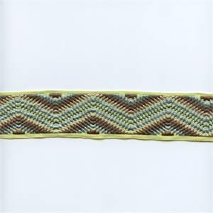 LF220/420 Brown/Green/Blue Flamestitch Tape Trim