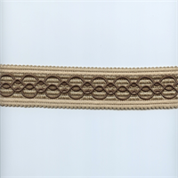 02294-T Linen and Brown Tape Trim