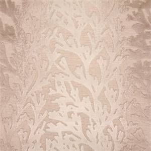 Riveria Sand Cut Chenille Coral Design Upholstery Fabric