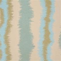 Chaplin Surf Woven Ikat Stripe Upholstery Fabric