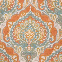 Prussia Aqua Woven Floral Upholstery Fabric