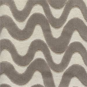 High Tide Driftwood Cut Chenille Wavy Stripe Upholstery Fabric
