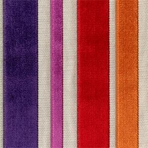 Barnum Carnival Multi Purple Red Cut Chenille Stripe