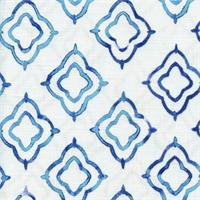 Keyhole Sapphire Weathered Cotton Drapery Fabric