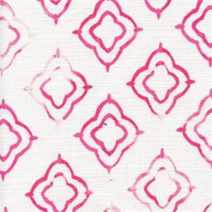 Keyhole Fuschia Weathered Cotton Drapery Fabric