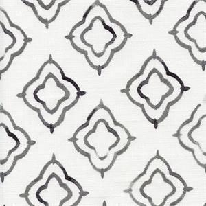 Keyhole Charcoal Weathered Cotton Drapery Fabric