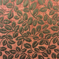 Westlake Cinnamon Leaf Chenille Coral Design Upholstery Fabric