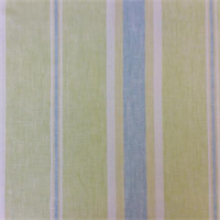 Farah Melon Green Stripe Linen Drapery Fabric by Swavelle Mill Creek