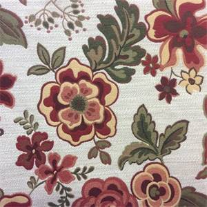 Khloe Ivory Floral Drapery Fabric