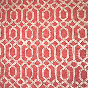 Parquet Scarlet Geometric Upholstery Fabric