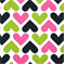 Heart Black/Candy Pink by Premier Prints - Drapery Fabric - Order a Swatch