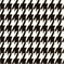 Large Houndstooth Black/White by Premier Prints - Drapery Fabric 30 Yard bolt