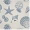 Shells Pacific Natural Cotton Drapery Print  30 Yard bolt