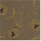 Kerry Bronze/Brown Embroidered Faux Silk Floral Drapery Fabric - Order a Swatch