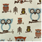 Hooty Village Natural by Premier Prints - Drapery Fabric 30 Yard bolt