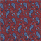 Red & Blue Paisley Drapery Fabric - Order a Swatch