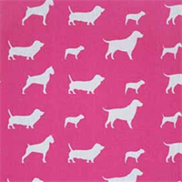 Best Friends Candy Pink/White by Premier Prints - Drapery Fabric 30 Yard bolt
