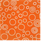Circles Orange/White by Premier Prints - Drapery Fabric 30 Yard bolt