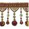 IR4474 - WNM - Preshea Decorative Bead Trim - Wine Multi - Order a Swatch