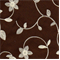 LA Mayflower Chocolate Floral Drapery Fabric - Order a Swatch