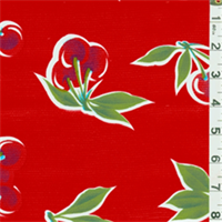 Red Cherry Oilcloth - By The Bolt