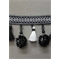 IR6138 KW Black/White Tassel Fringe - Order a Swatch
