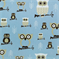 Hooty Mist/Putty Printed by Premier Prints - Drapery Fabric 30 Yard bolt