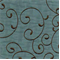 G3838 Ozark Ol Blue Embroidered Faux Silk Fabric - Swatch