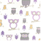 Hooty Wisteria by Printed Premier Print - Drapery Fabric - Order a Swatch