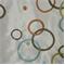 Ringo Endive Circles Faux Silk Drapery Fabric  - Order a Swatch
