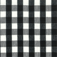 DC41 Chester Black/White Check Drapery Fabric by Roth and Tompkins - Order a Swatch