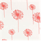 Dandelion White/Coral by Premier Prints - Drapery Fabric - Order a Swatch