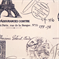 French Stamp Sunshine/Navy Natural by Premier Prints - Drapery Fabric - Order a Swatch