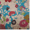 Cisco Turquoise Suede Floral  Upholstery Fabric - Order a Swatch