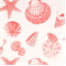 Shells Coral/White by Premier Prints - Drapery Fabric - By The Bolt
