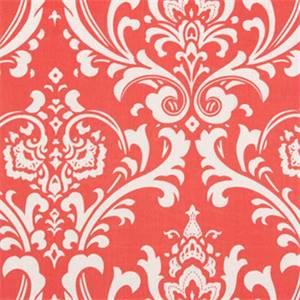 Ozborne Coral White by Premier Prints Drapery Fabric 30 Yard Bolt