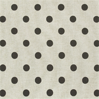 Polka Dots Linen/Chocolate by Premier Prints - Drapery Fabric 30 Yard Bolt