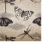 Belgrave Graphite Butterfly Drapery Fabric - Order a Swatch