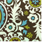 Suzani Chocolate/Natural By Premier Prints Fabrics Drapery Fabric 30 Yard Bolt
