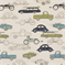 Retro Rides Felix/Natural by Premier Prints - Drapery Fabric - Order a Swatch