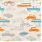 Retro Rides Mandarin/Natural by Premier Prints - Drapery Fabric - Order a Swatch