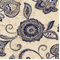 Lily Wedgewood Blue Floral Linen Look Fabric - Order a Swatch